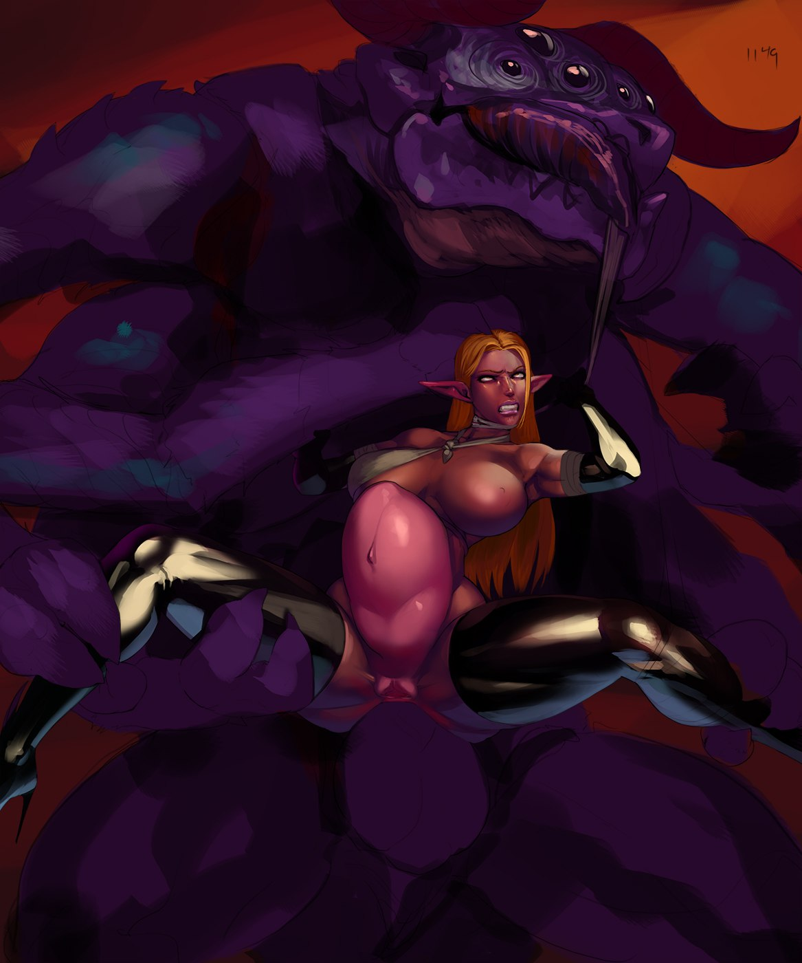 mage and queen malori demon Hunted the demon's forge seraphine