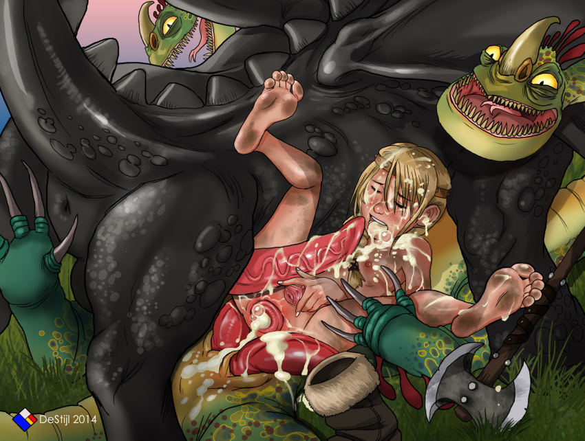 dragon your train astrid to and porn hiccup how Tarot witch of the black rose sex