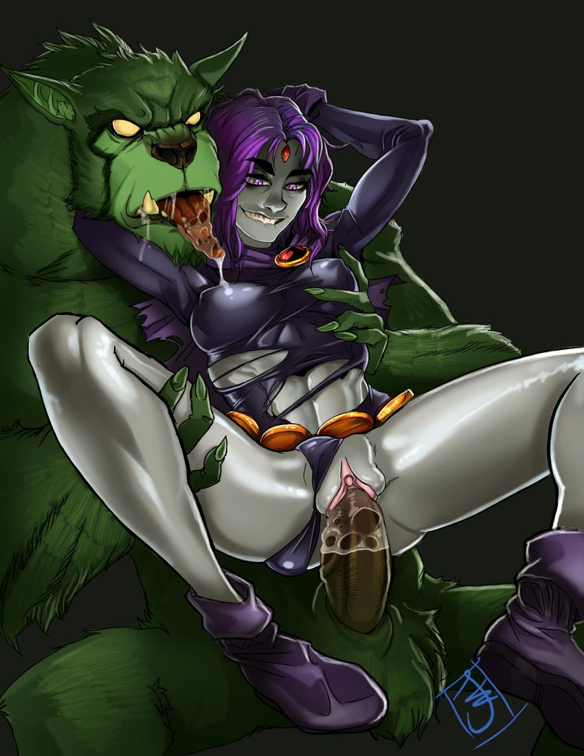 and raven sex comic boy beast Charmeleon cuts arbok in half