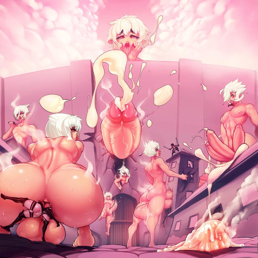yaoi porn attack on titan Big big big big boobs