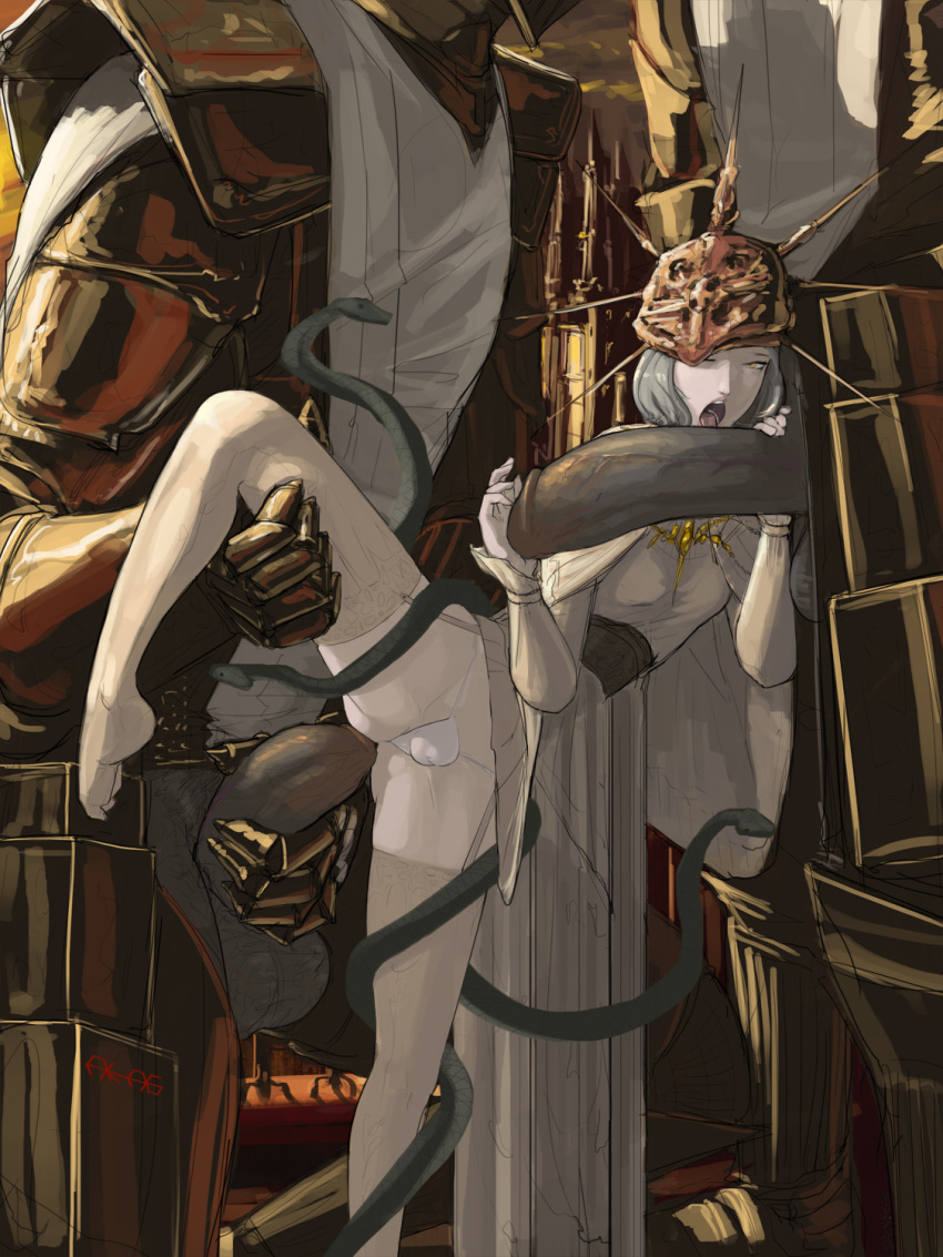 greatwood dark 3 cursed-rotted souls Morrigan aensland x male reader